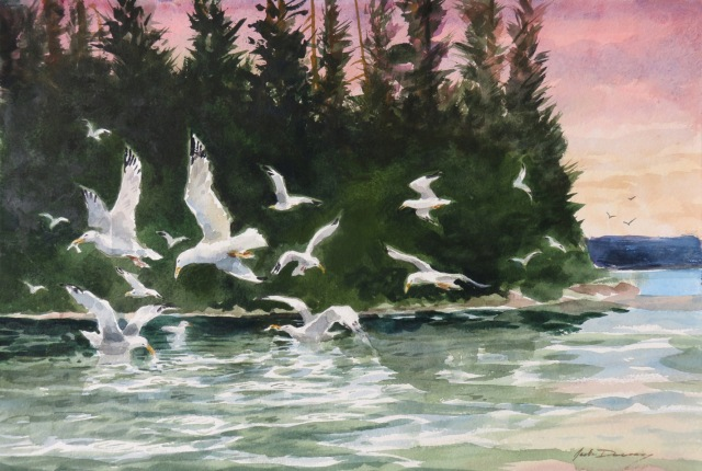 Jack Dorsey, Watercolor, Morning Quiet Broken - 300 dpi for Jason, CAA
